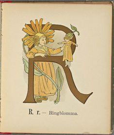 Decorative Alphabet Letters, Alphabet Cards, Alphabet Design, Vintage Book Art, Flower Phone Wallpaper, Vintage Stamps, Letter Art, Retro Art, Antique Art