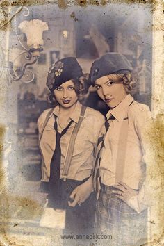 My mustache girls by Anna Osk, via Flickr