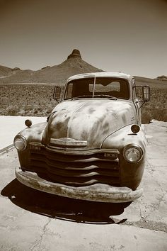 Route 66 - Classic Chevy, retired to Rt. 66 in Arizona. Fine Art Photography.