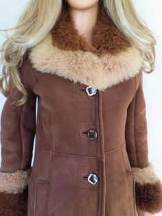 Vintage 1960's 70's Brown Ombre Long by ElectricLadyland1 on Etsy, $439.99