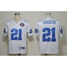 a04b9b03 Cowboys #21 Deion Sanders White Hall of Fame 2012 Stitched NFL Jersey  Dallas Cowboys Jersey