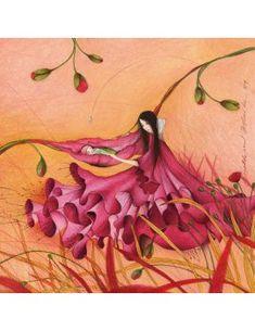 """Mila square card (14 cm) """"Le berceau et la fleur"""""""