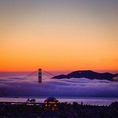 Wow...the beauty of San Francisco and the Golden Gate Bridge.  #sanfrancisco #sftourismtips #goldengatebridge