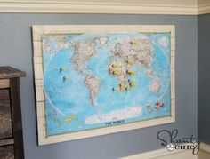 In an effort to keep my son's darts off the windows, I made him a dart board! A little geography and target practice go hand in hand ;-)! Come check it out!  http://www.shanty-2-chic.com/2012/07/nerf-guns-target-board-diy.html