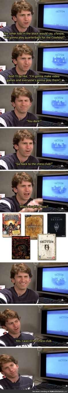 Todd Howard - Go back to the chess club!