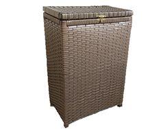 (1) Cesto De Roupa Suja Fibra Sintética Tipo Vime Junco40x25x60 - R$ 117,90 em Mercado Livre