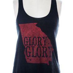 d2a0767057c4 Glory Glory Old Georgia Tank Top in Black by Judith March Miss Georgia