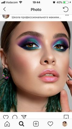 All your favourite beauty destinations. Trendi combines every retailer so that you can buy beauty as effortlessly as you wear it Fancy Makeup, Colorful Eye Makeup, Glam Makeup, Beauty Makeup, Hair Makeup, 1980s Makeup, Gothic Makeup, Crazy Makeup, Makeup Trends