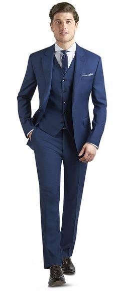 Islington Plain Blue 3 Piece Slim Fit Suit