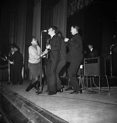 A female fans gets on stage at The Beatles' first Stockton gig in 1963 It was 50 years ago that The Beat. The Beatles Live, Stockton On Tees, Home History, Those Were The Days, Middlesbrough, British Invasion, The Fab Four, Jfk, Rare Photos