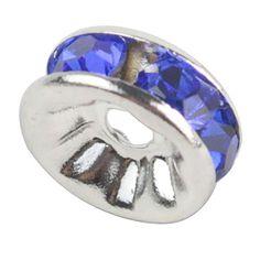 niceeshop(TM) 1 Sack (100Pcs) Kristall Silber Plattiert Rand Farbenreich Perle 8mm-Dunkelblau - http://schmuckhaus.online/niceeshop/dunkelblau-niceeshop-tm-1-sack-100pcs-kristall