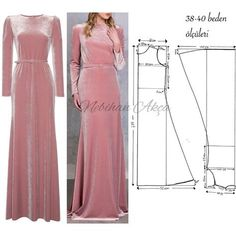 No photo description available. Evening Dress Patterns, Dress Making Patterns, Fashion Sewing, Diy Fashion, Gown Pattern, Modest Wear, Abaya Fashion, Diy Dress, Clothing Patterns