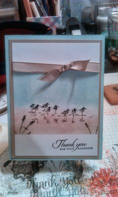 Stampin With Kim: Wetlands Thank You Card