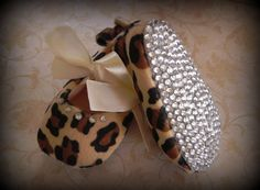 My work - Infant Cheetah Sparkle Shoes (Size 6-12 months) by punkprincesscreate, $20.00  (same song, 2nd verse :-) )