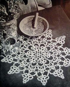 Tatting Doily Pattern Vintage Tatted Star