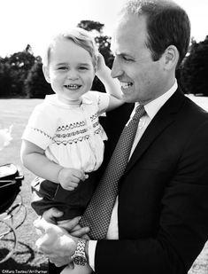 Prince William & George at Princess Charlotte's Christening