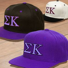 Sigma Kappa Classic Snapback Cap $17.95 We should get them for PIKE for Greek Week ;)