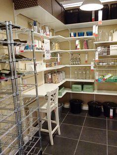 Ikea Algot shelves in corner