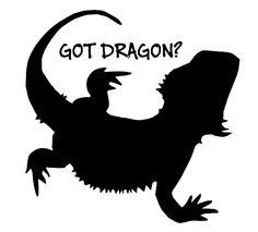 Bearded Dragon Decal/Sticker- Got Dragon 4X4. $4.99, via Etsy.