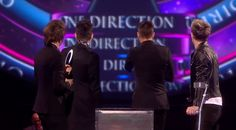 And then they all got on stage and realized the curly-headed one was missing: | The 31 Most Perfect One Direction Moments From The Brit Awards
