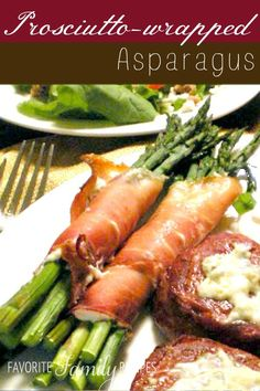 New Years Eve Appetizer- Prosciutto Wrapped Asparagus