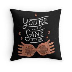 harry potter Throw Pillows