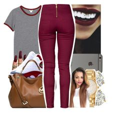 """"""""""" by jadeessxo on Polyvore featuring Monki, Michael Kors, Auriya, Kate Spade and Pieces"""