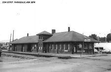 Paragould Arkansas 1974 St Louis Southwestern train depot real photo pc (Y8105)