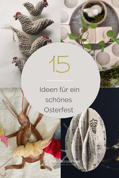 15 wundervolle Ideen, DIY's, Rezepte, Inspirationen für ein schönes Osterfest Place Cards, Place Card Holders, Table Decorations, Kids, Home Decor, Easter Bunny, Homemade, Nice Asses