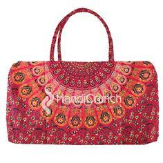 Elegant dark red color mandala travel bag Online Bags, Dark Red, Travel Bag, Handicraft, Red Color, Mandala, Handbags, Tote Bag, Elegant