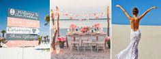 Una boda en la playa es de lo más romántica y divertida, atractiva por el hermoso paisaje y preferida por los novios que buscan una boda diferente. Además de las razones para preferir una boda cerca del mar, también está el hecho de que es el pretexto perfecto para tomar unas mini-vacaciones con amigos …