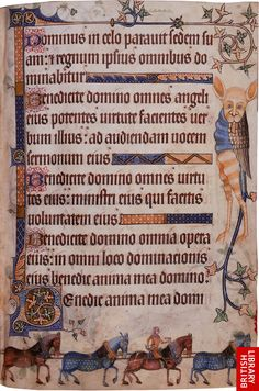 More Luttrell Psalter from British Library. http://www.bl.uk/onlinegallery/ttp/luttrell/accessible/images/page26full.jpg