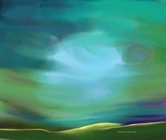 Minimal Painting - Light In The Storm by Lenore Senior