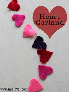 project 18 of 33 : heart garland.