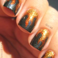 Katniss's Nails! I want to learn how to do this!!!!