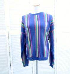 Vintage Striped Sweater Pullover Crewneck by MarjoriesMemories, $34.00