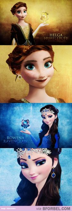Anna And Elsa As Hogwarts Founders…