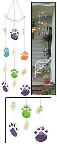 Paws Galore Wind Chime at The Animal Rescue Site. Every Purchase Funds Food and Care for Rescued Animals. Can hardly wait for this to arrive so I can hang it! Love, love, love their items. https://theanimalrescuesite.greatergood.com/store/ars/item/49590/paws-galore-wind-chime?source=10--1