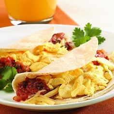 A Smaller Cousin Of The Breakfast Burrito Taco Made With Reduced Fat