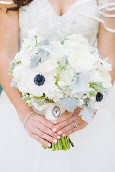 #anemone Photography: Candice Benjamin Photography - candicebenjamin.com Read More: http://www.stylemepretty.com/california-weddings/2014/12/30/classic-navy-white-santa-barbara-wedding/