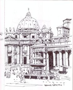 Rome sketch by Mike Tupa