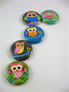 Five 1 Inch button magnets