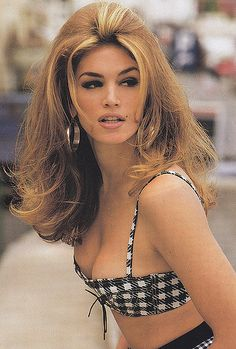 90's Supermodel Obvious Highlights. I think this look is on it's way back actually.
