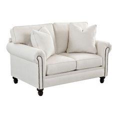 Wayfair Custom Upholstery Vivian Loveseat Upholstery: Godiva Nile