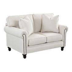 Wayfair Custom Upholstery Vivian Loveseat Upholstery: Godiva Putty