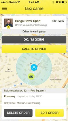 Taxi_order #ui #ux #interface