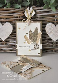 World Cardmaking Day bijdrage aan de Facebook kaartlawine Stampin' Up! I love lace Four Feathers Six Sided Sampler birthday card Wil jij dit kaartje ook eens maken? Boek dan nu een privé workshop voor jou en je vriendinnen! Voor meer informatie en/of afspraak maken: carooskaartjes@hotmail.nl