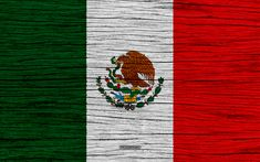 Download wallpapers Flag of Mexico, 4k, North America, wooden texture, Mexican flag, national symbols, Mexico flag, art, Mexico