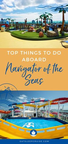 Are you planning a cruise vacation on Royal Caribbean's Navigator of the Seas? If so, you'll want to check out our post with tips to make the most of your time onboard the ship. From activities like laser tag and water parks to specialty dining and entertainment, you'll find something for everyone. Or maybe you just want to relax by the pool but don't forget to plan your Perfect Day at CocoCay. Our post will show you how. #NavigatoroftheSeas #RoyalCaribbean #RCI #CruiseVacation #CruiseShips