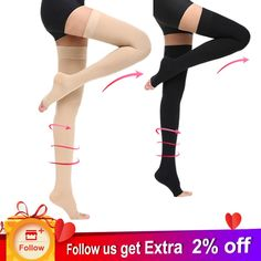 1784ebe59 Cofoe Compression Stockings Varicose Veins 34-46mmHg Pressure Level 3  Adults mid-Calf length